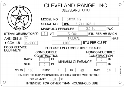 How to find your Cleveland model and serial number